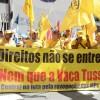 Sindicalistas fazem novo ato contra as novas mudanças nas leis trabalhistas