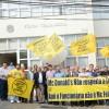 Trabalhadores protestam contra McDonalds em  Barueri e preparam-se para Ato Global do próximo dia 15