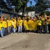 Centrais sindicais realizam manifestação contra a terceirização