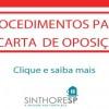 Procedimentos para Carta de Oposição