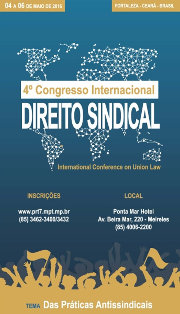 Sinthoresp participará do 4º Congresso Internacional de Direito Sindical
