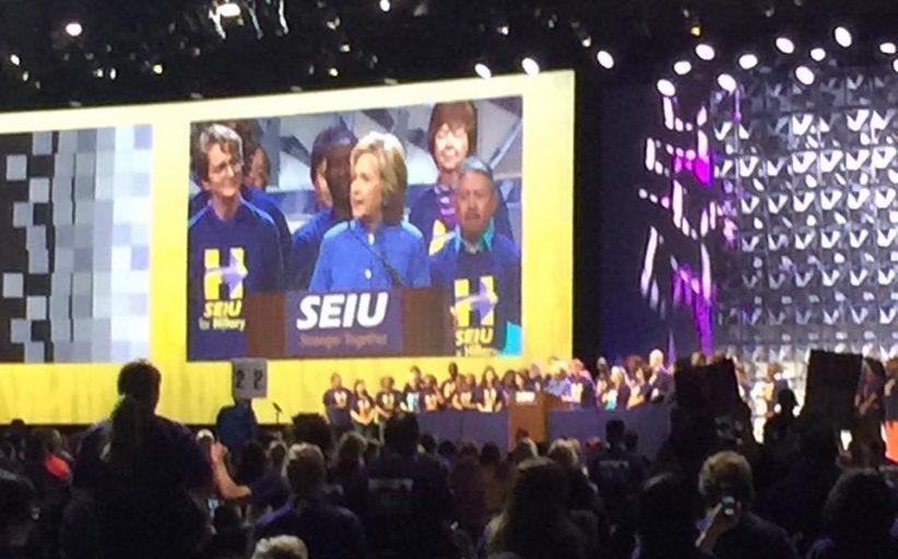 Hillary Clinton, pré-candidata à presidência dos EUA, participa de Congresso Internacional da SEIU