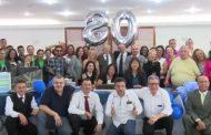 Calasans comemora 80 anos de vida ao lado de colaboradores do Sinthoresp e trabalhadores da categoria