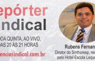 """Diretor Rubens Fernandes falará ao vivo sobre """"Sindicalismo e Benefícios"""" na TV Agência Sindical"""