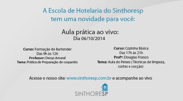 Escola de Hotelaria: Aula prática ao vivo, clique e saiba mais!